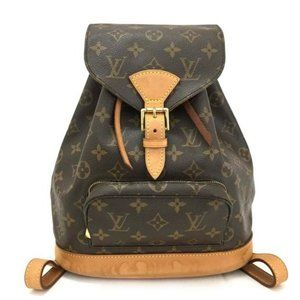 Auth Louis Vuitton Monogram Montsouris PM Backpack